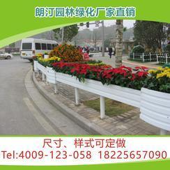 厂家定制市政道路隔离景观工程PVC微发泡长条组合户外园艺花箱
