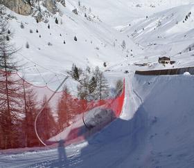 滑雪场防护杆