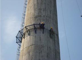 120米水泥烟囱拆除