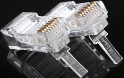 普菲特PFT超五类网线镀金6U水晶头 高质量水晶头