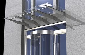 大连钢结构玻璃雨棚点式雨棚制作安装公司