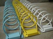 自行车摆放架厂家,碳素钢单车摆放架价格,螺旋式单车摆放架