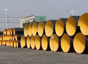 赤峰HDPE钢带缠绕管 赤峰波纹管价格