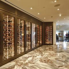現代不銹鋼恒溫酒柜定制玫瑰金展示柜廠家直銷