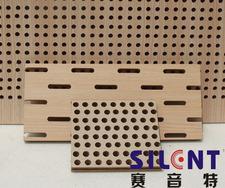 赛音特木质穿孔复合吸音板|纤维墙面吸音板|吸音装饰板|河南吸音板厂|声学材料|吸声板