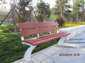 山西公园椅,太原塑木园林椅厂家