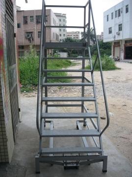 移动平台梯,简易货梯,库房登高梯