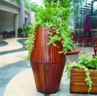 户外花箱,实木园林花箱,户外家具组合,山樟木花箱,花车