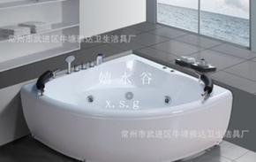 亚克力冲浪按摩浴缸90度三角浴缸家用浴缸独立式浴缸