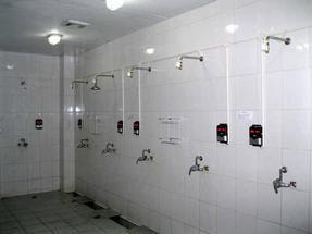 学校澡堂打卡机,IC卡淋浴水控器 IC卡淋浴节水器