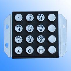 16位锌合金键盘,12位金属按键,金属按键厂家
