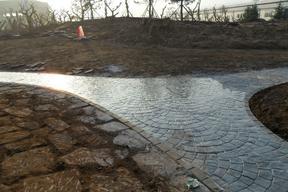 徐州彩色压模混凝土路面,江苏压花地坪材料供应商