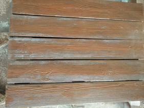 承接户外仿木护栏安装水泥仿木地板