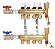 黄铜分水器PPR分水器铜分水器地板采暖分水器