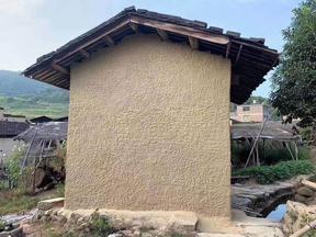 河南郑州现代复古仿黄土墙包工包料生态稻草泥价格