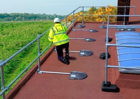 屋面临边护栏 配重自立护栏 天窗护栏 组装免焊接