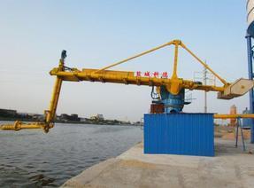 城科德固定式粉煤灰水泥矿粉螺旋式卸船机