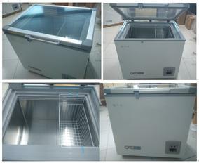 -40度冰柜100升卧式冰箱(玻璃门)