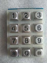 12位发光金属键盘,背光按键生产厂家,锌合金按键