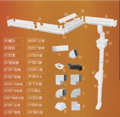 彩铝天沟别墅屋檐雨水槽铝合金雨水管檐沟落水系统