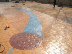 广东透水混凝土厂家 广东彩色压花地坪 艺术压模地坪模具