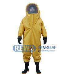 氨用RHFIA连体全封闭重型防化服 6.8L正压式呼吸器防氨阻燃防护服
