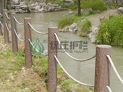 仿木栏杆,仿木桩,护岸桩,树桩,水利工程,河道整治
