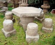 自然石桌椅套装gcf435