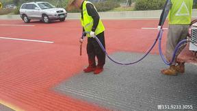广西柳州彩色路面聚氨酯涂料一上线就走红了