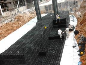 绿色建筑节水雨水收集利用塑料PP模块系统