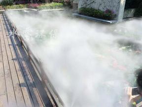 高压喷雾除尘装置,水造雾除尘设备