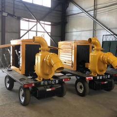 柴油机抽水泵车 柴油拖车式排水泵
