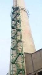讷河烟囱安装旋转梯|烟囱折梯安装|烟囱安装检测平台