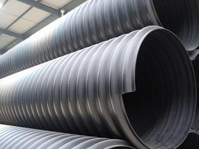 HDPE钢带增强螺旋波纹管 埋地塑料排水管道