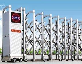 青岛电动门不锈钢伸缩门工厂大门