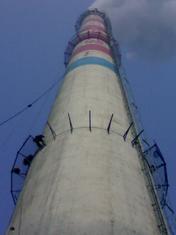 河津烟囱安装旋转梯|烟囱折梯安装|烟囱安装检测平台
