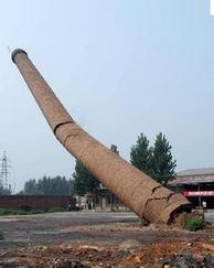 专业拆除砖烟囱工程