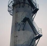 天津烟囱安装旋转梯|烟囱折梯安装|烟囱安装检测平台