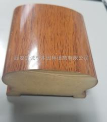 新型木纹热转印楼梯扶手,陕西志诚塑木生产厂家供应