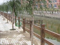 仿木栏杆,仿木护栏,河道护栏,隔离护栏,景观护栏