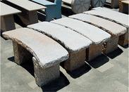 白色花岗岩休闲长凳gcf440