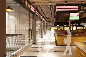 长沙农贸市场平面设计图摊位设计就咨询长沙壹番设计公司