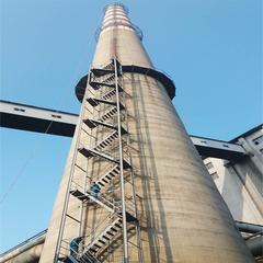 凌源烟囱安装旋转梯|烟囱折梯安装|烟囱安装检测平台