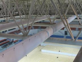 苏州瀑布布风管设计中心管道布局厂家直销的布袋风管