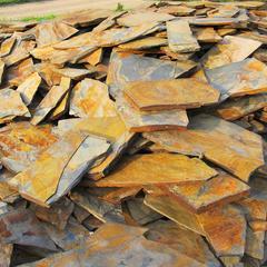 厂家直销江西天然文化石锈色乱板 青杂锈色碎拼青石板