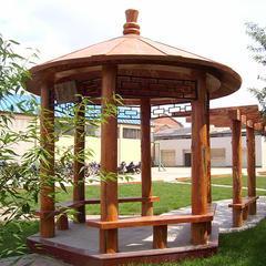 园林景观生态塑木凉亭