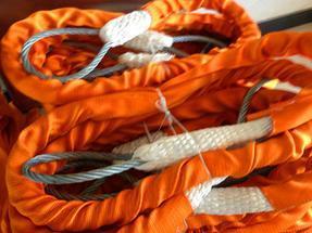 带护套织包钢丝绳 尼龙绳织包外加护套