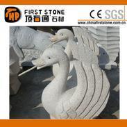 花岗岩天鹅雕刻流水石GAF323