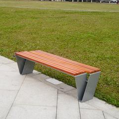 广场用的不锈钢休闲坐凳,金属户外长椅