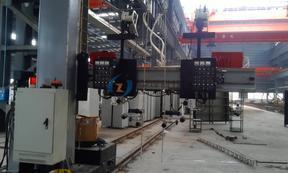 箱形柱焊接悬臂丝极电渣焊机